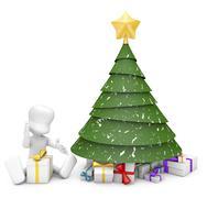 christmas scene - stock illustration
