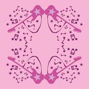 Rock star guitar vector art Stock Illustration