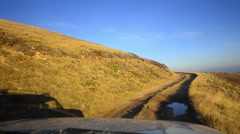 Off-road driving through a macedonian mountain Stock Footage