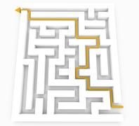 Solved maze Stock Illustration