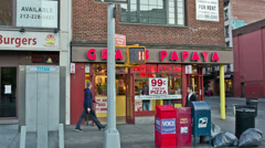 Gray's Papaya in New York City Stock Footage