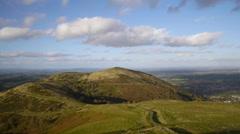 Malvern Hills panorama. Stock Footage