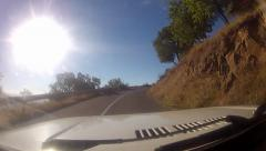 Hd: on mountain the road - stock video Stock Footage