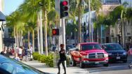 Stock Video Footage of Rodeo Drive, Beverly Hills