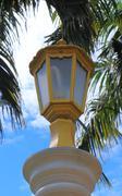 lamp in garden - stock photo