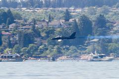 low-flying patriot jet - stock photo