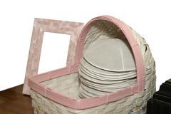 Basket of kippot Stock Photos