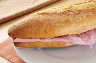 Stock Photo of spanish ham sandwich