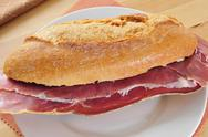 Stock Photo of spanish serrano ham sandwich