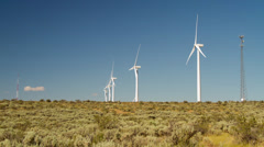 Eco Energy from Windmill in Washington State, USA Time Lapse footage Stock Footage