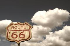 Iconic route 66 sign Stock Photos