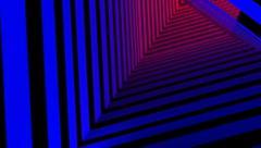 Rainbow stripes tunnel Stock Footage