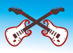 hand up guitar vector art - stock illustration