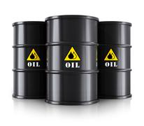 Black oil barrels Stock Illustration