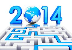 New Year 2014 concept - stock illustration