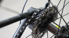 Race Bike Artisitc Dolly 7 Stock Footage