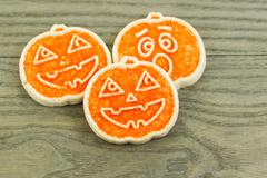 Cookies for the fall holiday season Stock Photos