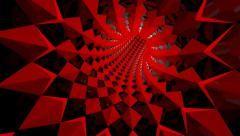 Red spike tunnel Stock Footage