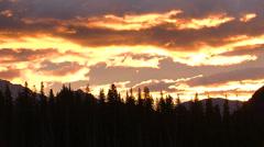 Banff Sunrise Closeup Time Lapse Stock Footage
