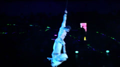 Performance in the large, beautiful, acrobatics Stock Footage
