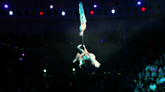 Performance in the large, beautiful, acrobatics 5 Stock Footage
