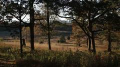 Gettysburg Civil War battlefield Stock Footage