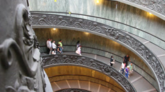 The famous Vatican staircase 2 Stock Footage