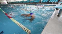 Swim Training 35 - stock footage