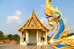 Buddhist temple in northern of thailand Stock Photos