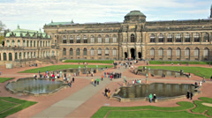Zwinger Palace, Dresden, Saxony, Germany Stock Footage