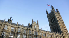 Palace of Westminster, London, UK Stock Footage