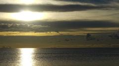 Sunset over a calm sea. Stock Footage