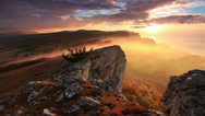 Stock Video Footage of 4K. Timelapse sunrise in the mountains Ai-Petri.