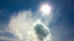 NO BIRDS! 4K & HD; Sun,clouds - MADE OF 14 bit RAW OUTPUT! - stock footage