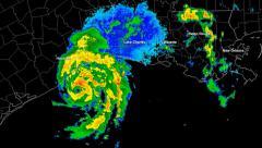 Stock Video Footage of Hurricane Humberto (2007) Landfall Time Lapse