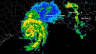 Stock Video Footage of Hurricane Humberto (2007) Landfall Time Lapse