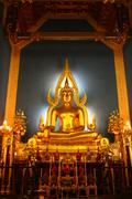 principle buddha image in a temple - stock photo