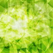 Stock Illustration of green triangle background