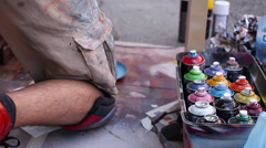 Graffiti Spray Paint Stock Footage