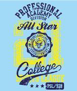 american college sports vector art - stock illustration