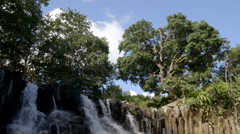 Rochester Falls on Mauritius Stock Footage