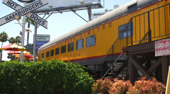 A Train Themed Restaurant in Los Angeles Stock Footage
