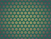 Stock Illustration of green christmas paper star