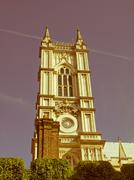 Stock Photo of retro looking westminster abbey