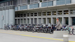 Bicycle Parking 1 Stock Footage