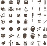 Sport, medical, science and anatomical icons Stock Illustration