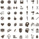 Stock Illustration of sport, medical, science and anatomical icons