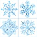 Stock Illustration of Snowflakes, set