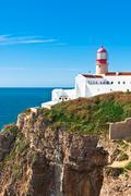 Lighthouse of cabo sao vicente, sagres, portugal Stock Photos