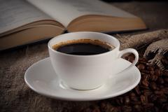 a cup of coffee - stock photo